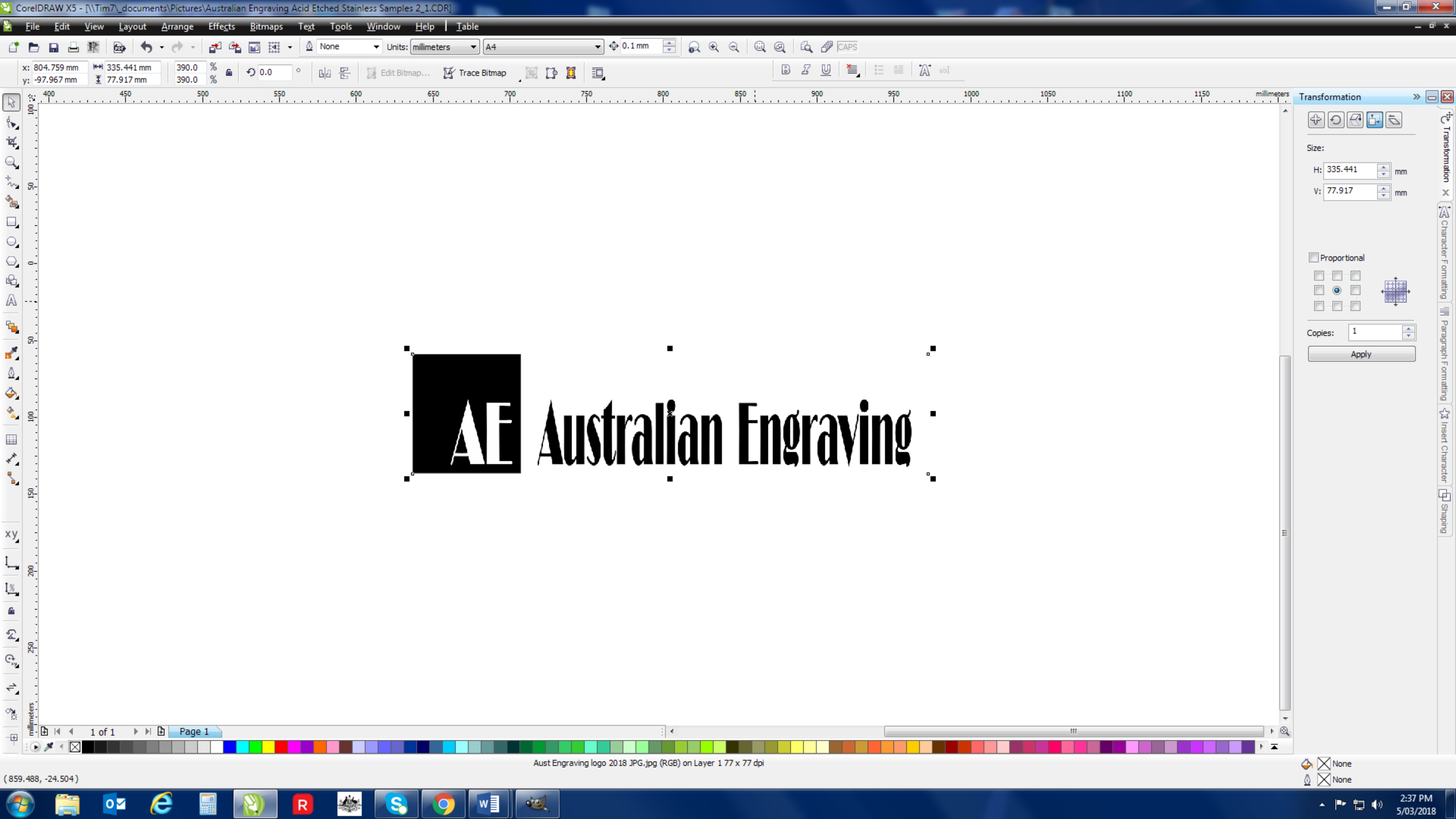 Australian Engraving Graphic Design and Art Services